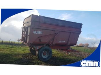Farm tipping trailer/ dumper Gilibert 850 PROFI