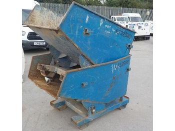 LOT # 0380 -- Conquip Tipping Skip to suit Forklift (2 of) - concrete mixer