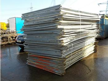 Selection of Heras Fencing (2 Bundles) - construction equipment