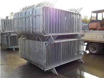 Selection of Pedestrian Fencing (2 Bundles) - construction equipment