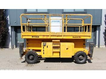 Scissor lift Haulotte H15SX New Tyres, 4x4 Drive, 15m working Height.