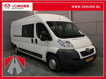 Closed box van Peugeot Boxer 333 2.2 HDI DC Dubbel Cabine L3H2 Inrichting/Airco/7 P