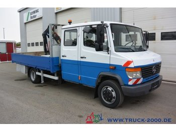 Open body delivery van Mercedes-Benz Vario 814 D Vario Doka 6-Sitze Kran 1.9 to.