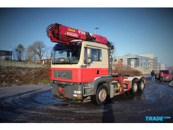 Timber transport MAN TGA 26.430 6x2 Holzkran