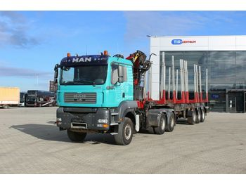 Timber transport MAN TGA 33.480 6x6 BL,+ AGAMA NPD 38, PALFINGER