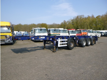 Dennison 4-axle container combi trailer (3 + 1 axles) 20-30-40-45 ft - container transporter/ swap body semi-trailer
