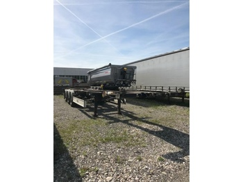 Container transporter/ swap body semi-trailer FLIEGL SDS 380, 2X20ft, 1X30, 1X 40 ft Containerchassi,Ausziehbar