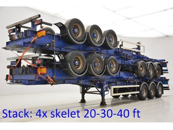 SDC Stack 4 x skelet 20-30-40 ft - container transporter/ swap body semi-trailer