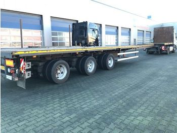 Nooteboom OVB-48-03V, Extandeble: 21.65 Mtr, ABS, 3 x Powersteered, Twist-Locks uitschuifbaar - flatbed semi-trailer