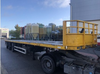 Nooteboom OVB 48 VV 8 mtr ausziehbar - exstension - all steering axle's - flatbed semi-trailer