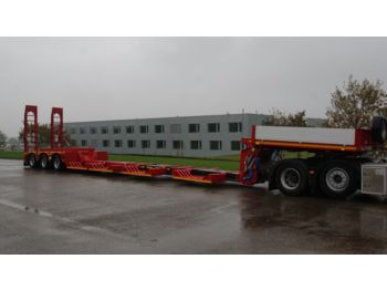 Low loader semi-trailer Faymonville Forstmaschinen tiefbett