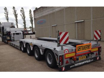 Low loader semi-trailer Faymonville Tiefbett / ausziehbar: picture 1