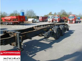 Container transporter/ swap body trailer Hüffermann / 2-achs Tandem-Abrollanhänger / HTSA 18.77 LS