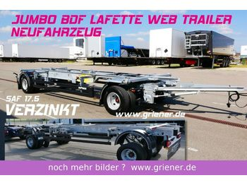 Web-Trailer JUMBO / MAXI BDF 7,15/7,45 LAFETTE 960 mm höhe  - container transporter/ swap body trailer