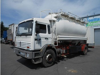 Renault G270 - cement tank/citerne ciment - lames/steel - manual - cab chassis truck