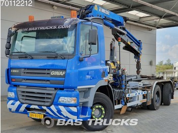 Ginaf X 3232 S 6X4 Manual Big-Axle Euro 3 Hiab 220-3 - container transporter/ swap body truck