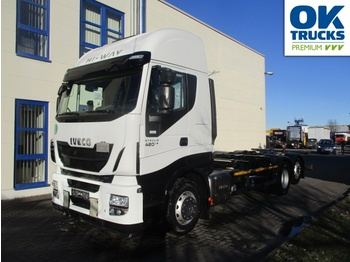 Container transporter/ swap body truck Iveco Stralis AS260S42Y/FPCM: picture 1