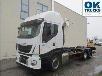 Container transporter/ swap body truck Iveco Stralis AS260S48Y/FPCM