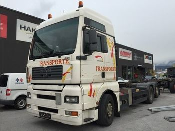 MAN TGA 26.430 XXL- Schaltgetriebe - 6x2 alter Tacho  - container transporter/ swap body truck