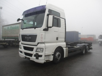 Container transporter/ swap body truck MAN TGX 26.440 BDF, Automatic, E5, Retarder,