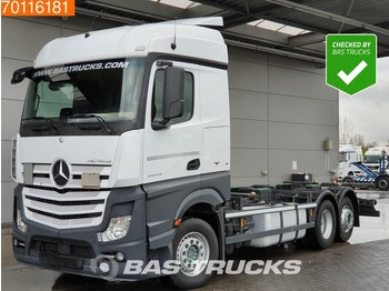 Mercedes-Benz Actros 2543 L 6X2 ACC Liftachse Navi Euro 6 - container transporter/ swap body truck