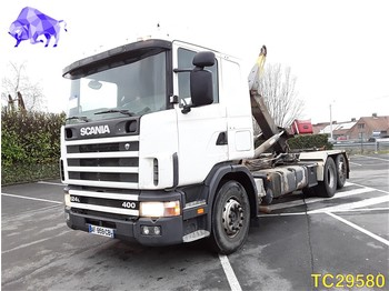 Container transporter/ swap body truck Scania 124 400 RETARDER