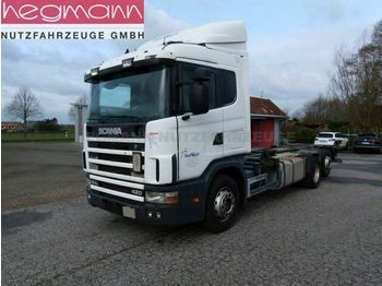 Container transporter/ swap body truck Scania 124 420 6x2, Euro 3, Retarder, Opticruise, dE