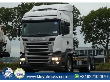 Container transporter/ swap body truck Scania R410 hl ret. scr only