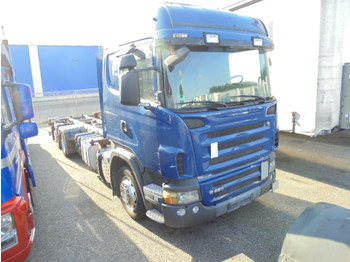 Container transporter/ swap body truck Scania R420LB 6X2