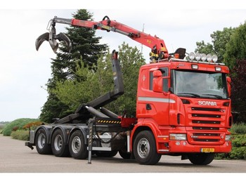 Container transporter/ swap body truck Scania R500 V8!!Z-KRAAN/HAAK!! MANUELL!