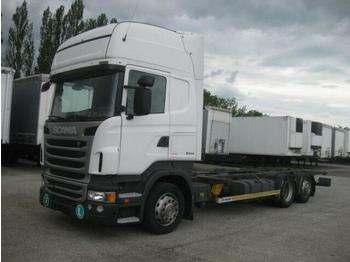 Container transporter/ swap body truck Scania R 440 Jumbo BDF EEV