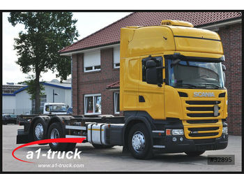 Scania R 450 LB6x2 MNB,Topline, Euro 6, Standklima, Ret  - container transporter/ swap body truck
