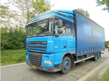 Curtainsider truck DAF FAR XF 105 410: picture 1
