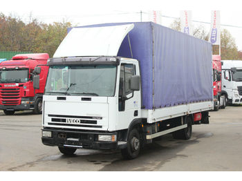 Curtainsider truck Iveco EUROCARGO ML 75 E, HYDRAULIC LIFT