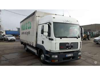 Curtainsider truck MAN TGL 8.210