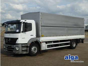 Curtainsider truck Mercedes-Benz 1829 Axor, 7.400mm lang, 2to. LBW, Klima, Luft