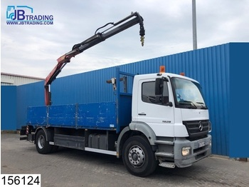 Dropside truck Mercedes-Benz Axor 1828 Manual, Fassi crane, Steel suspension, Remote control, Borden