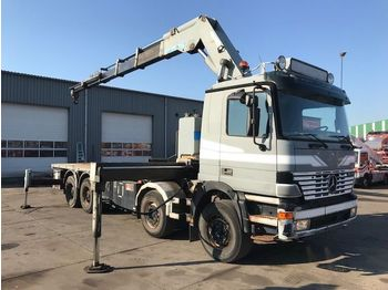 Mercedes-Benz ACTROS 4143 8X4 FULL STEEL EFFER 70 T/M REMOTE C  - flatbed truck
