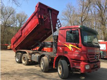 MERCEDES BENZ 4144 8x4 ACTROS Meiler 16m3 Analog Tacho German - tipper